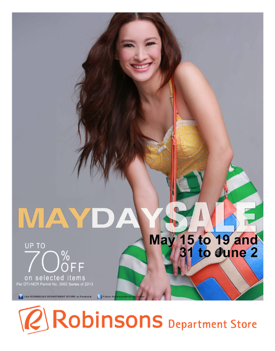 Robinsons Department Store Mayday Sale May - June 2013