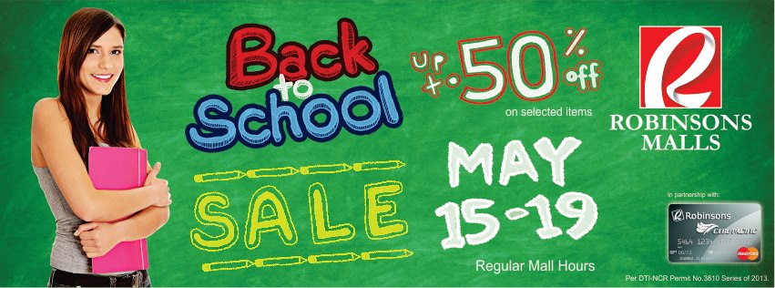 Robinsons Malls Back to School Sale May 2013
