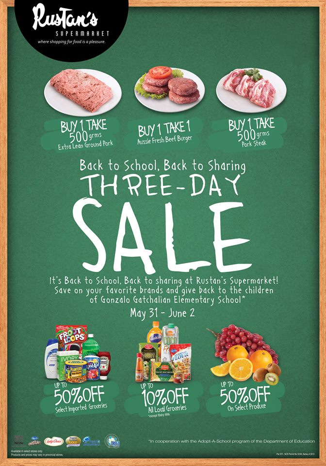 Rustan's Supermarket 3-Day Sale May - June 2013