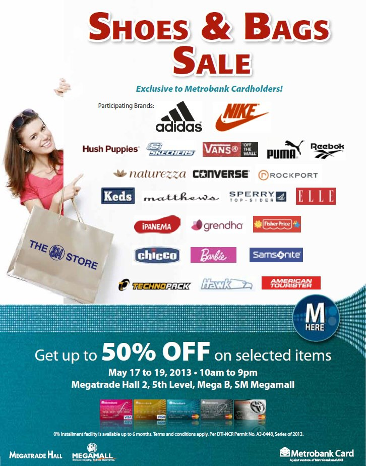 Shoes & Bags Sale @ SM Megatrade Hall May 2013