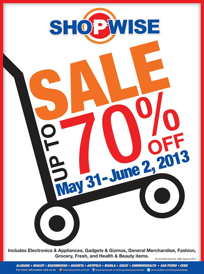 Shopwise 3-Day Sale May - June 2013