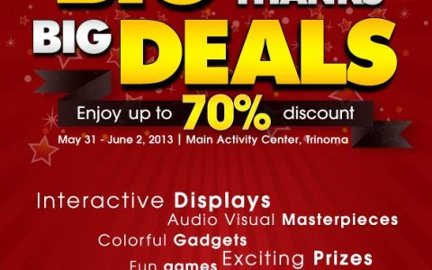 Sony Big Thanks Big Deals Sale @ Trinoma Activity Center May - June 2013