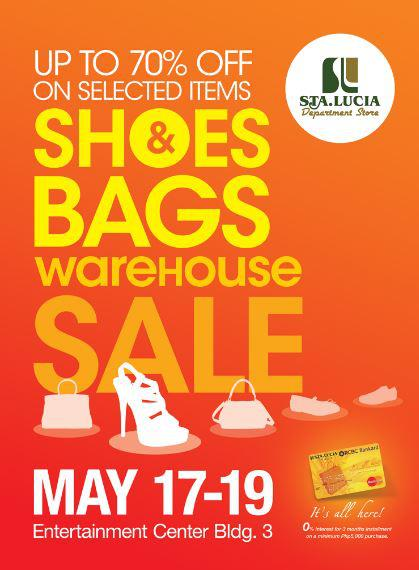 Sta. Lucia Department Store Shoes & Bags Warehouse Sale May 2013