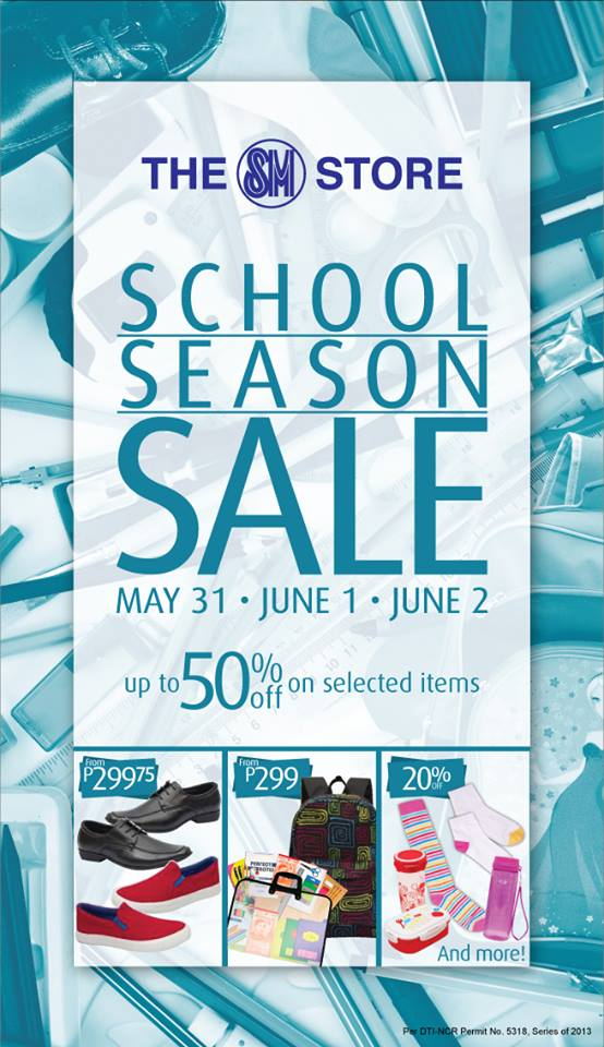 The SM Store School Season Sale May - June 2013