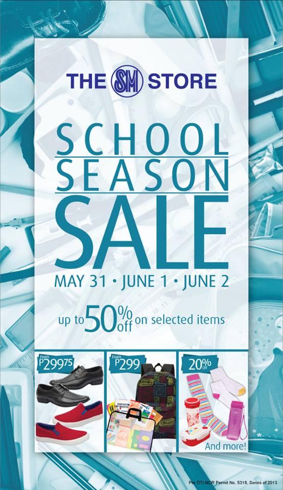 The SM Store School Season Sale May - June 2013