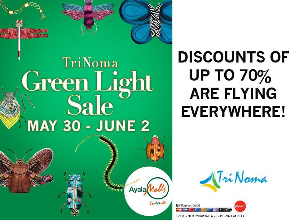 Trinoma Green Light Sale May - June 2013