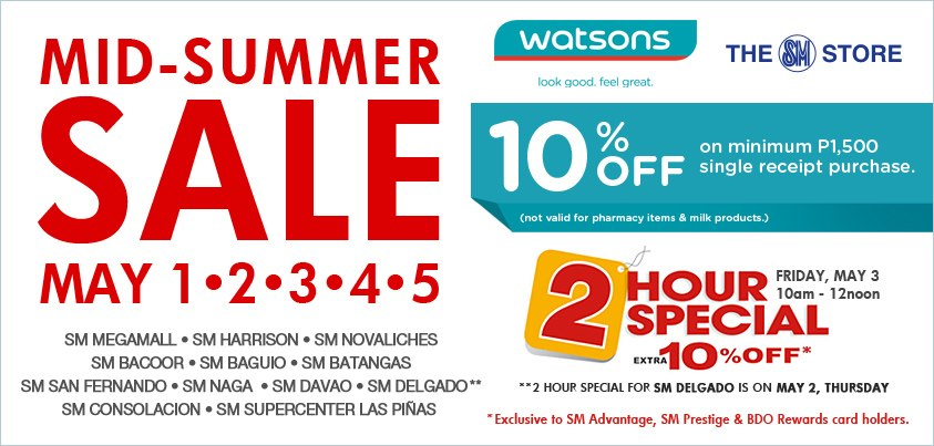 Watsons Mid-Summer Sale May 2013