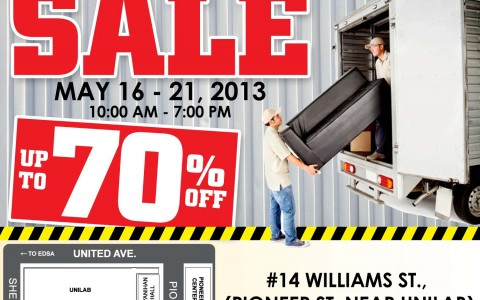 Blims Sogo Grand Furniture Warehouse Sale September 19 24 2013