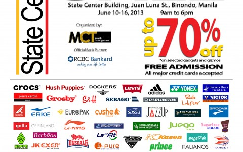 4th Binondo Warehouse Sale @ State Center Investment Building June 2013