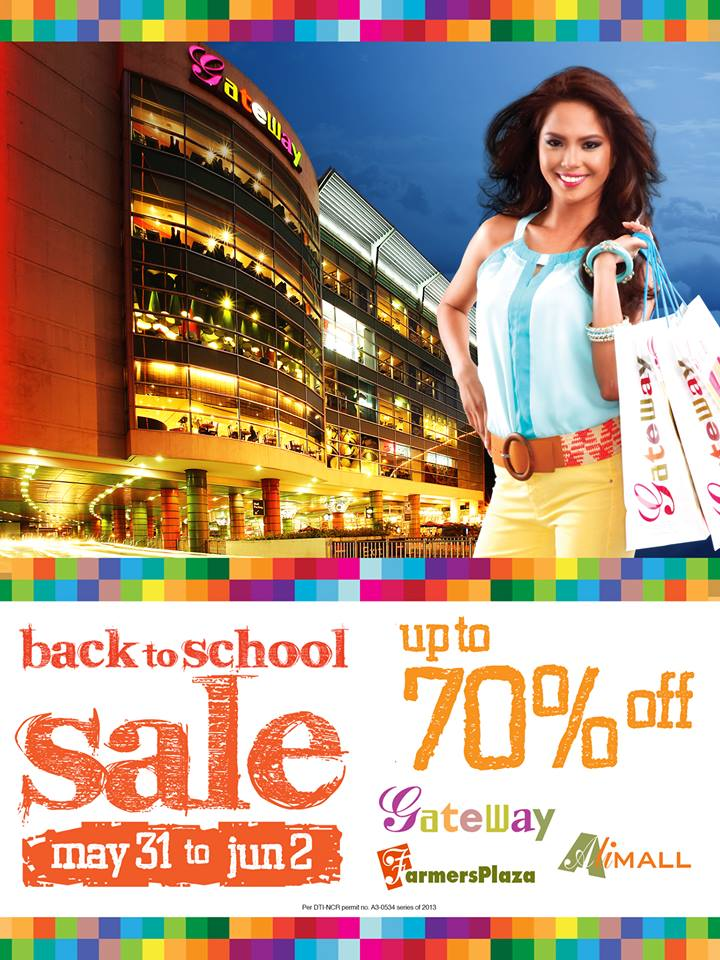 Araneta Center Back To School Sale May - June 2013