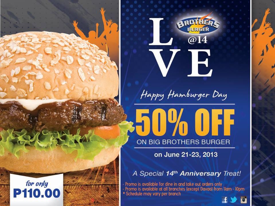 Brothers Burger Happy Hamburger Day June 2013