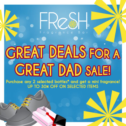 Fresh Fragrance Bar Great Deals for a Great Dad Sale June 2013