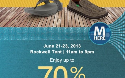 Fitflop & Sanuk Exclusive Sale @ Rockwell Tent June 2013