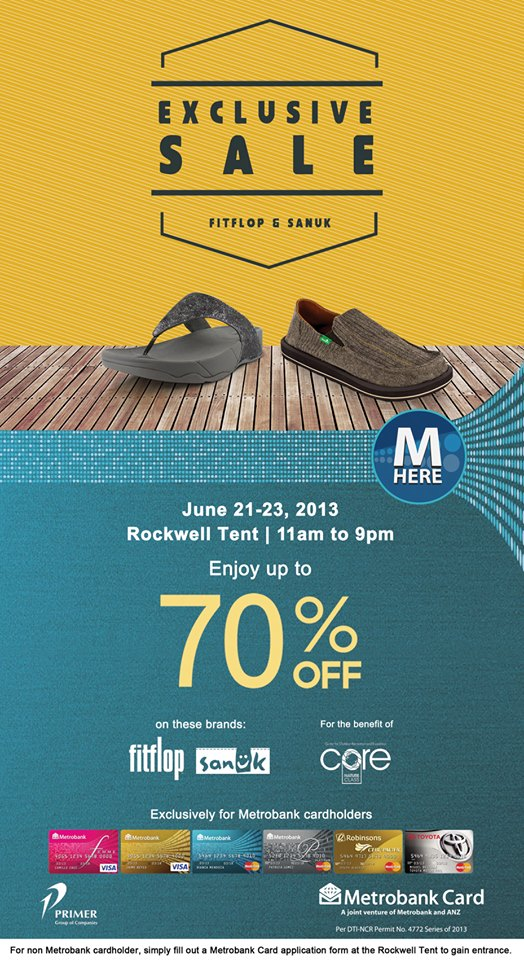 fddc608810cfba Fitflop   Sanuk Exclusive Sale at Rockwell Tent  June 21 –.