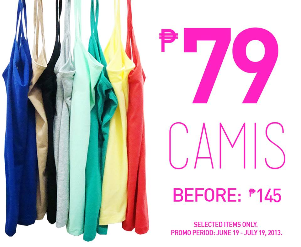 Forever 21 Basic Camis Sale June - July 2013