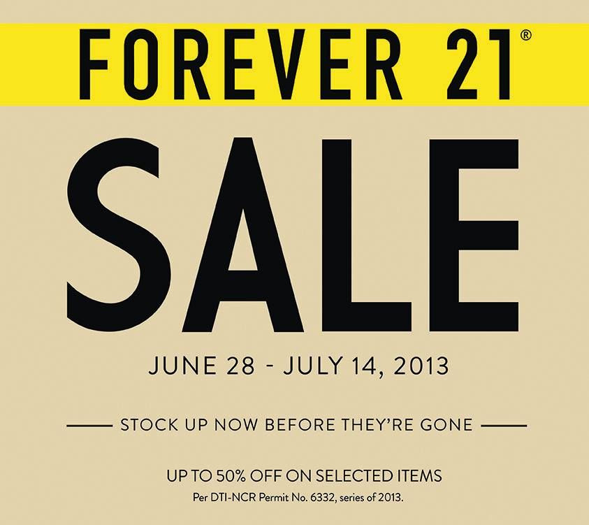 Forever 21 End of Season Sale June - July 2013
