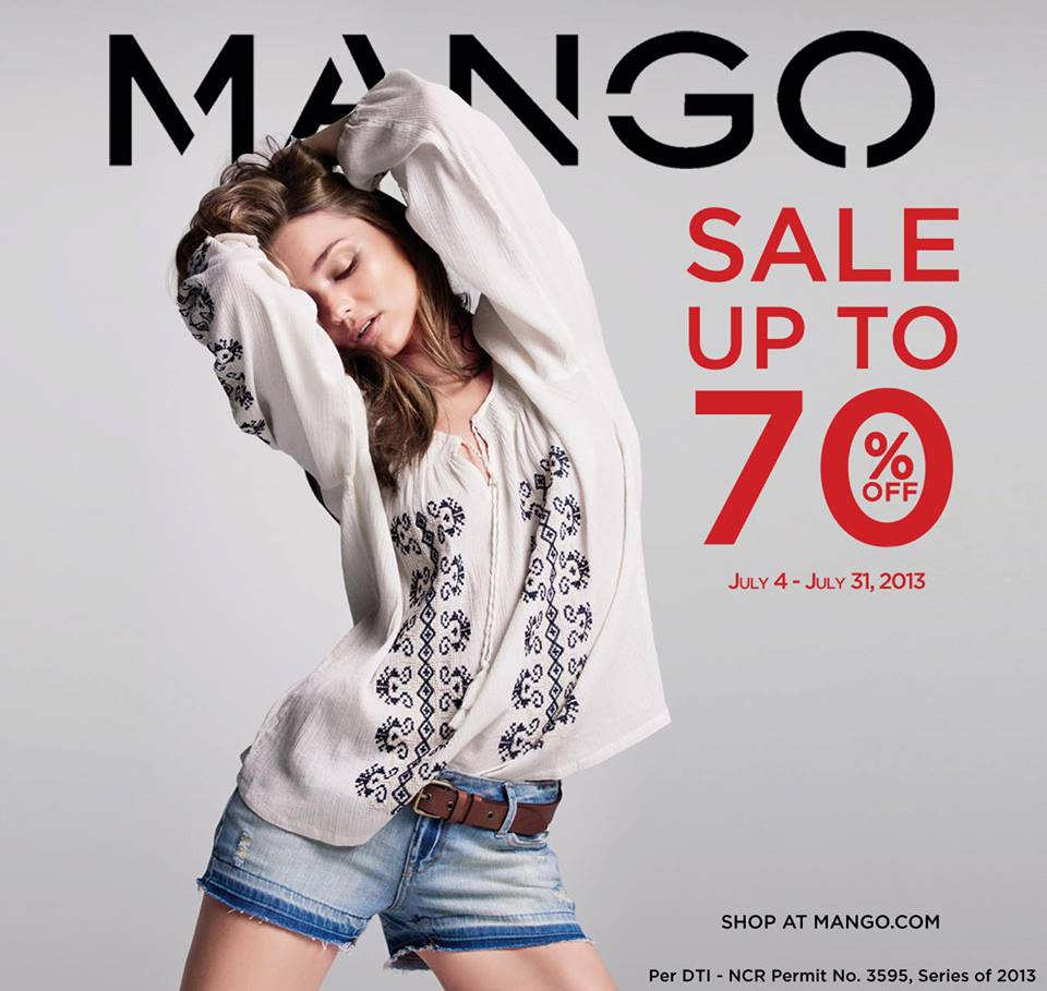by Mango, & Mango Touch End of Season Sale: June 20 – July 31, 2013