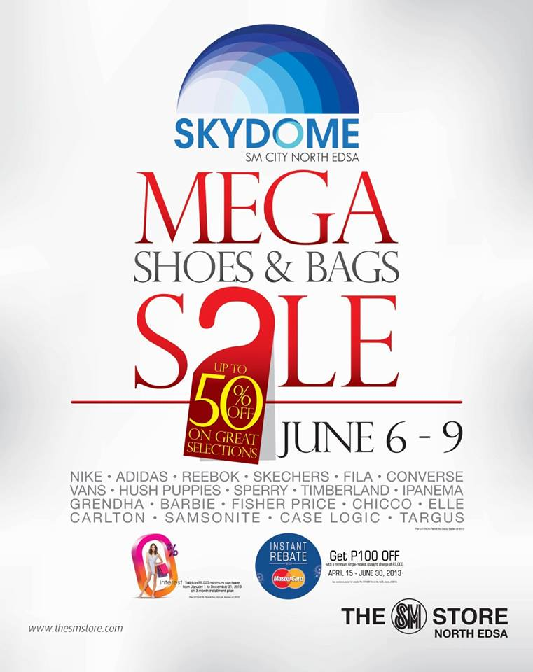 Mega Shoes & Bags Sale @ SM City North Edsa June 2013
