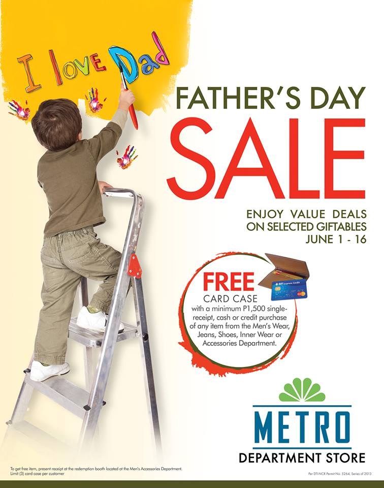 Metro Department Stores Fathers Day Sale June 2013