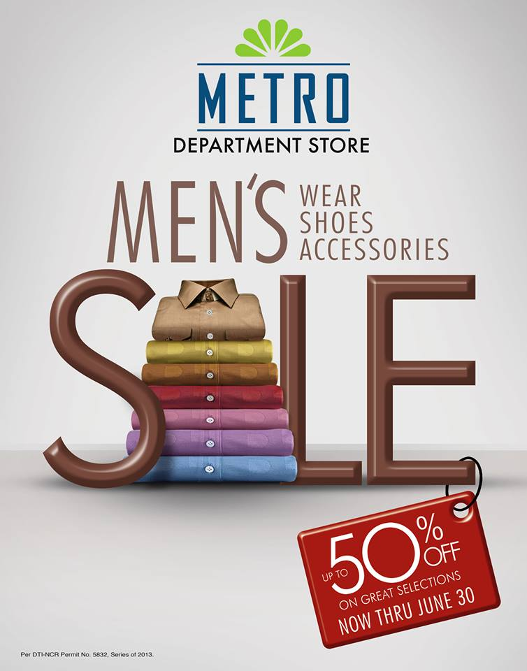 Metro Department Store Men's Wear Shoes & Accessories Sale June ...