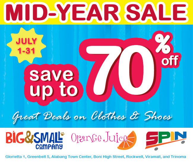 Big & Small Company, Orange Juice, Spin Mid-Year Sale July 2013