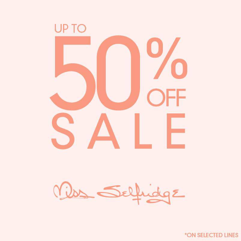 Miss Selfridge End of Season Sale June - July 2013