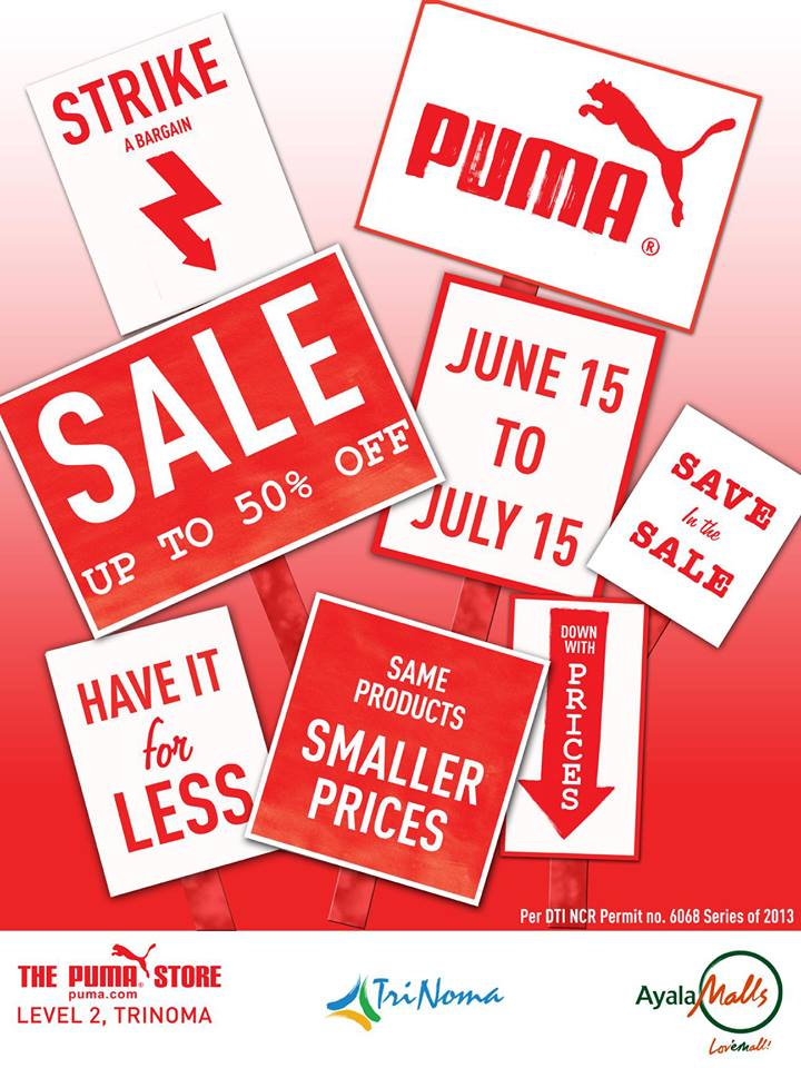 Puma Sale at Trinoma: June 15 – July 15, 2013