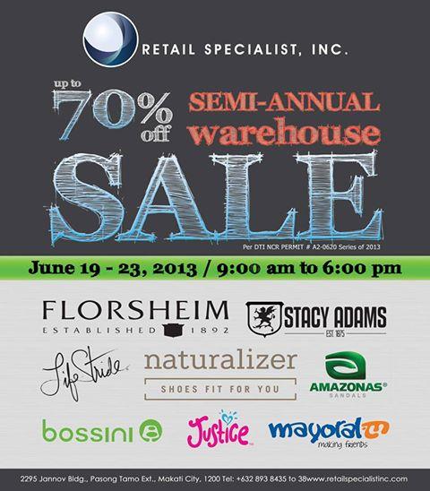 RSI Warehouse Sale @ RSI Warehouse June 2013