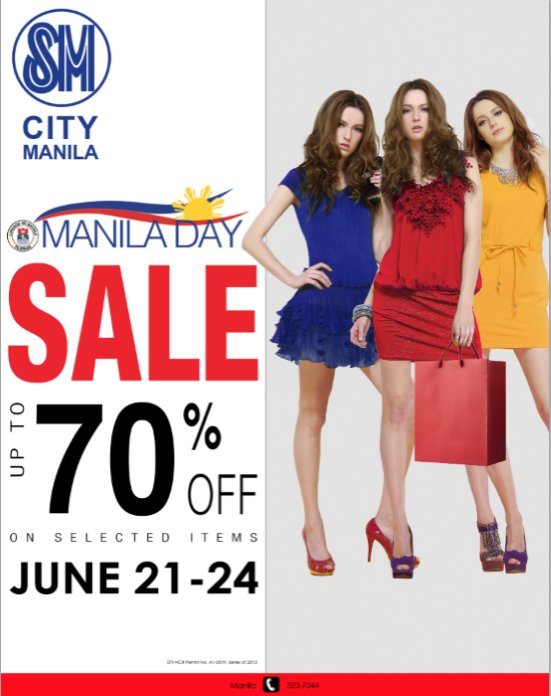 SM City Manila Manila Day Sale June 2013