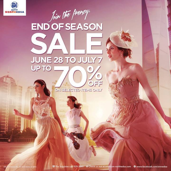 SM City North Edsa End of Season Sale June - July 2013