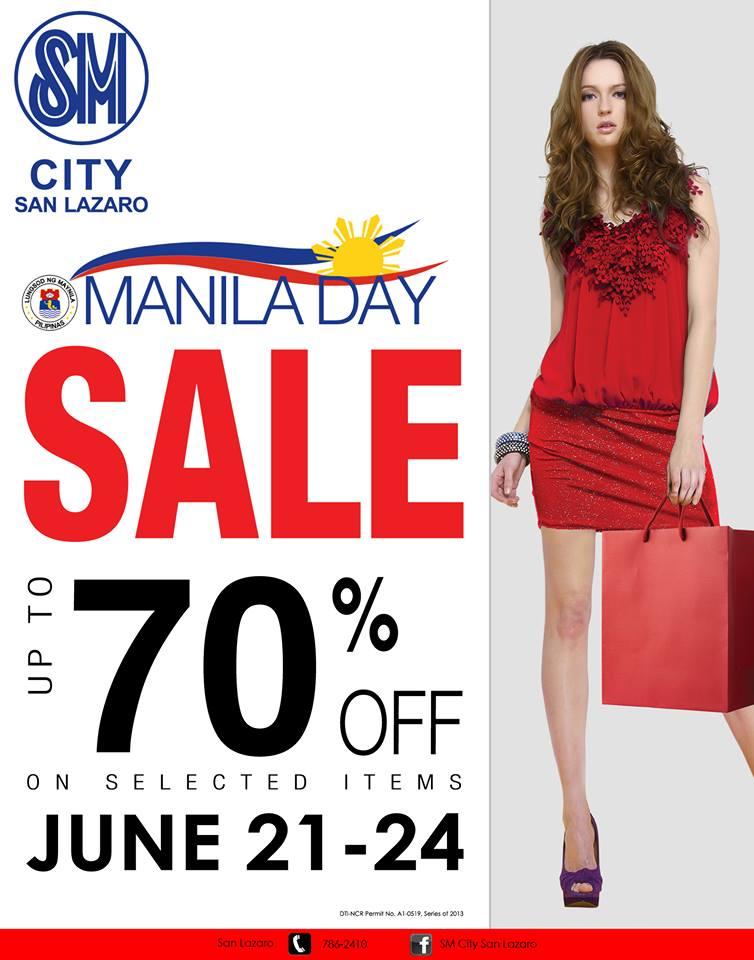 SM City San Lazaro Manila Day Sale June 2013