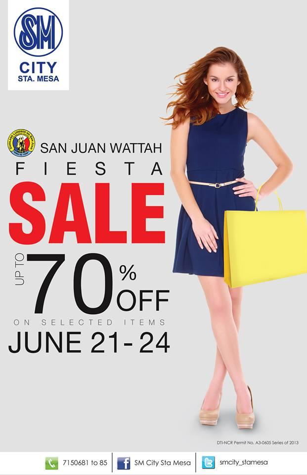 SM City Sta. Mesa San Juan Wattah Fiesta Sale June 2013