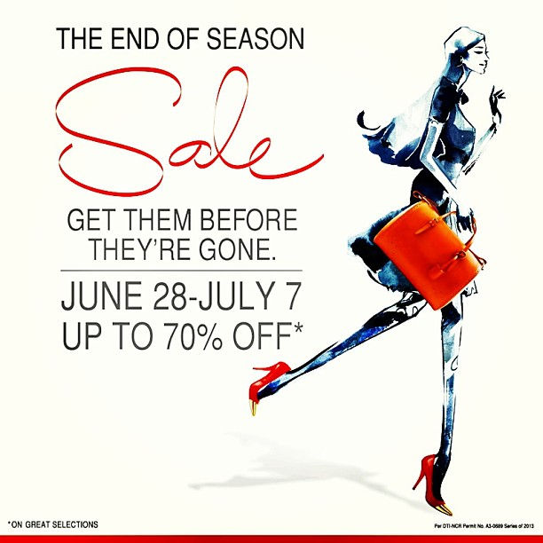 SM Megamall End of Season Sale June - July 2013