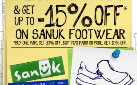 Sanuk Student Promo June 2013