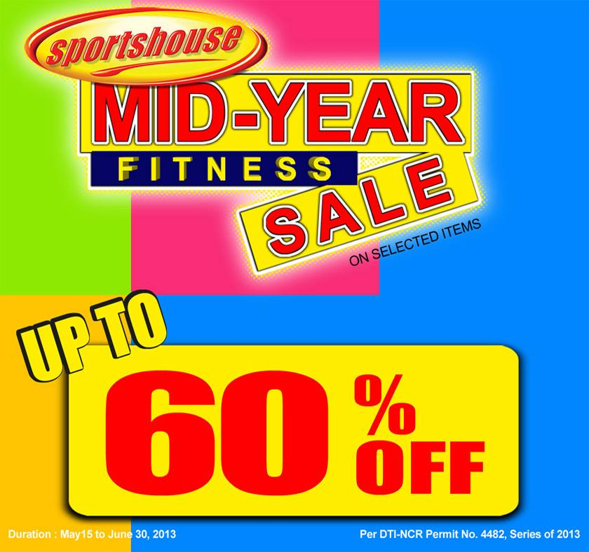 Sportshouse Mid-Year Fitness Sale May - June 2013