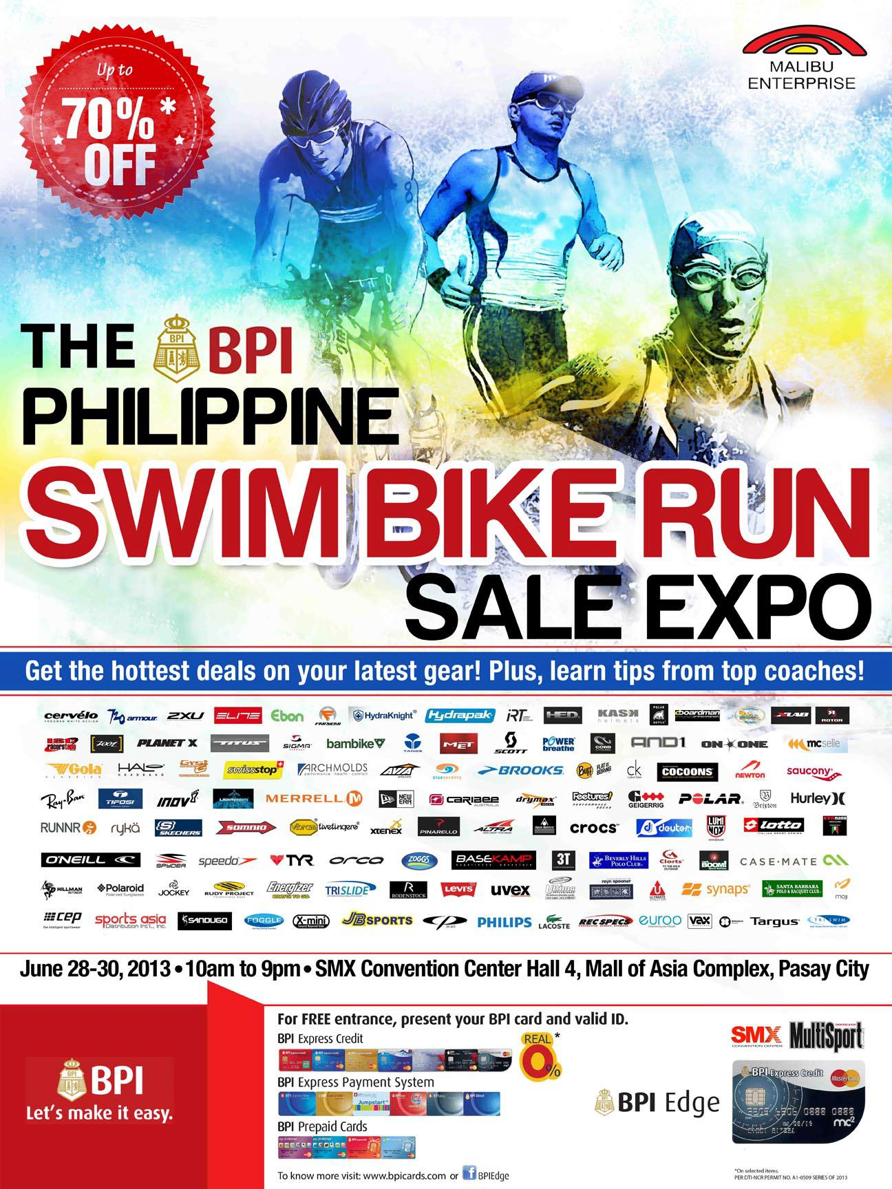 The Philippines Swim Bike Run Sale Expo @ SMX Convention Center June 2013
