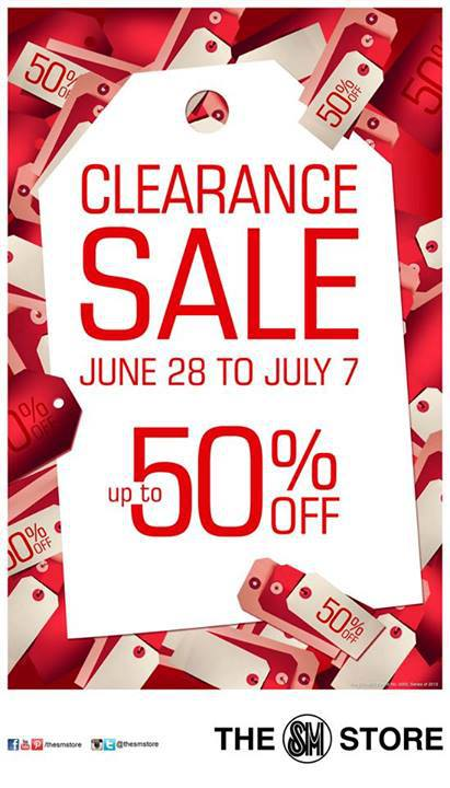 The SM Store Clearance Sale June - July 2013