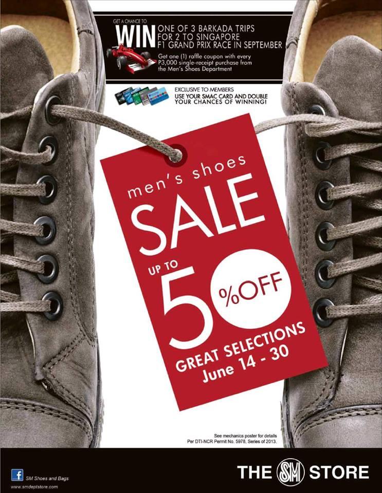 The SM Store Men's Shoes Sale June 2013