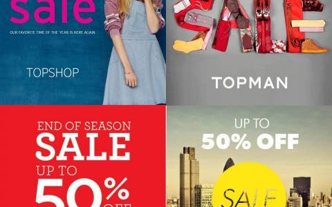 Topshop Topman Dorothy Perkins Warehouse End of Season Sale June - July 2013