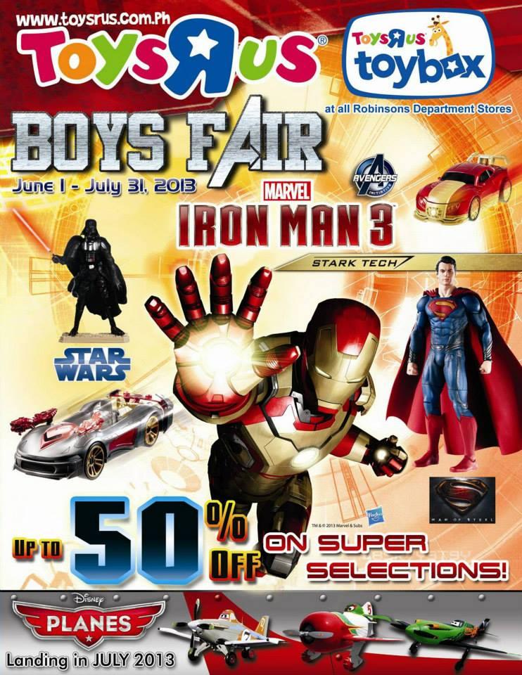 Toys R Us Boys Fair June - July 2013