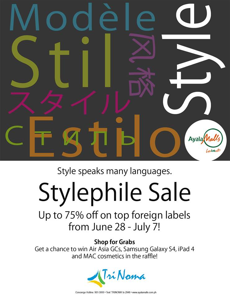 Trinoma Stylephile Sale June - July 2013