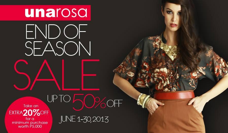 Una Rosa End of Season Sale June 2013