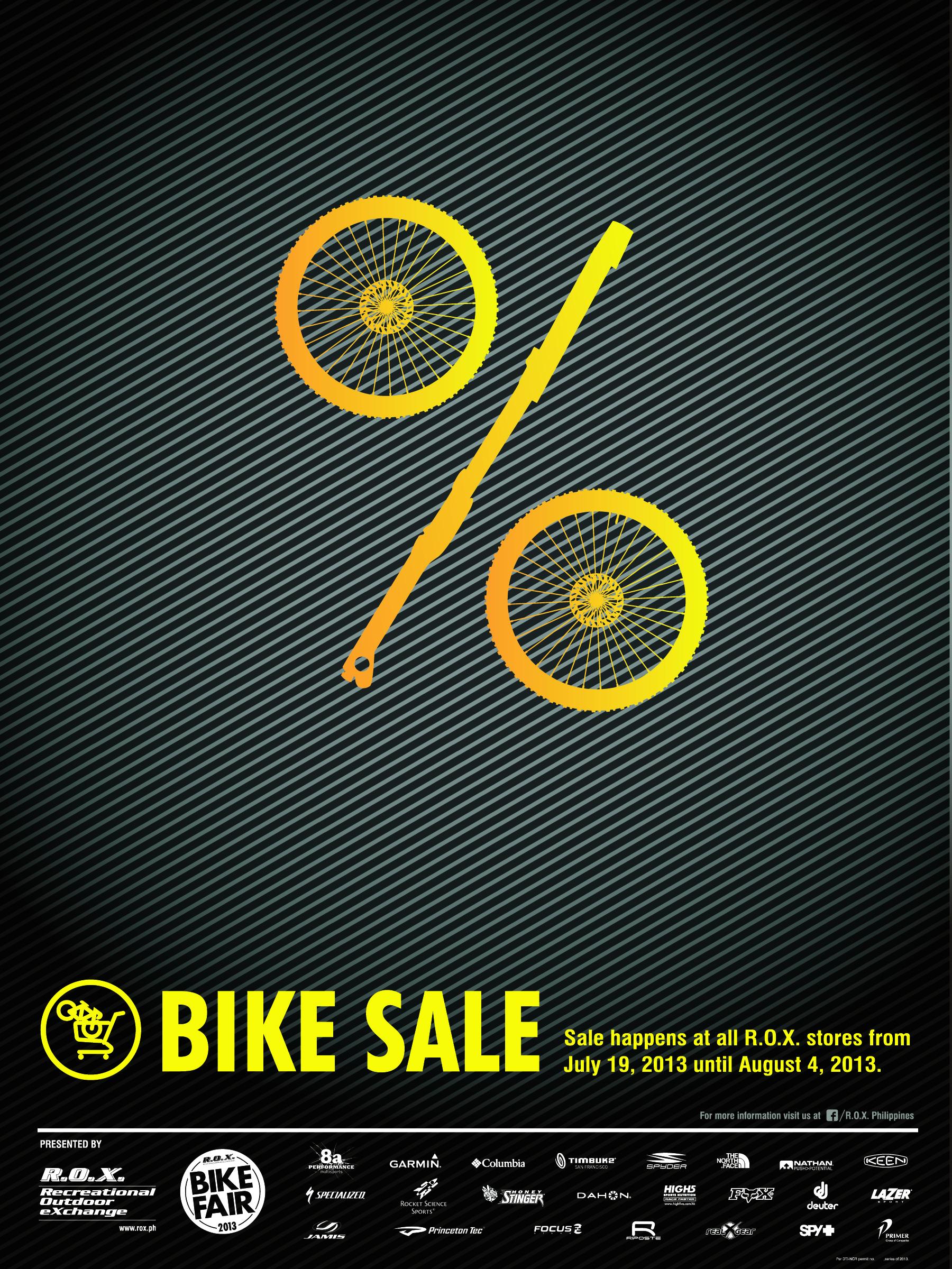 R,O.X. Bike Sale July - August 2013