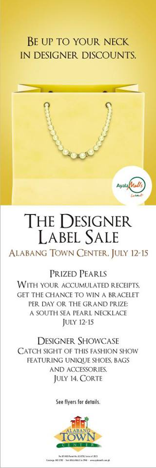 Alabang Town Center Designer Labels Sale July 2013