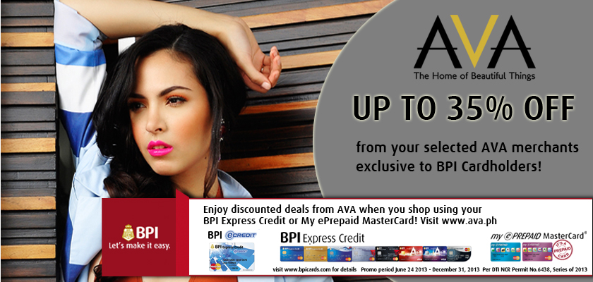BPI Promo: Exclusive Discounts at Ava - The Home of Beautiful Things