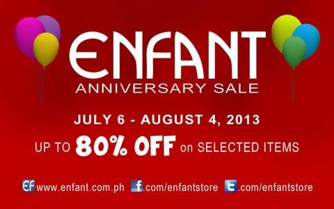 Enfant Anniversary Sale July - August 2013