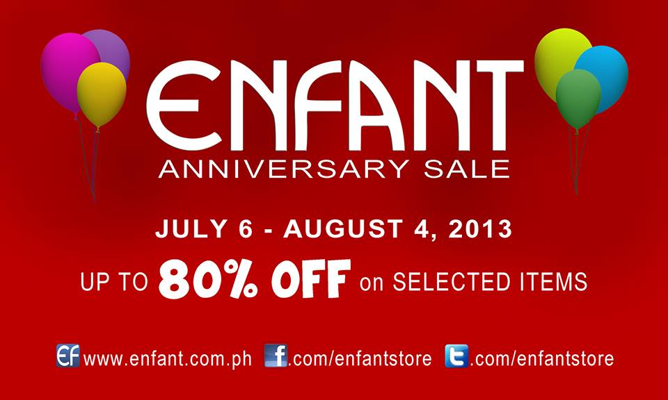 Enfant Anniversary Sale July - August 2013