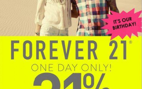 Forever 21 Birthday Sale July 2013