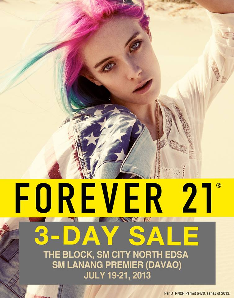 Forever 21 Sale @ SM City North Edsa & SM Lanang Premier Davao Jully 2013