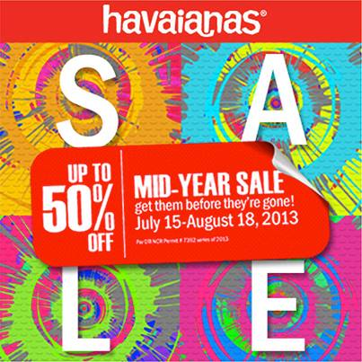 Havaianas Mid-Year Sale July - August 2013